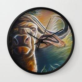 Alarmed Buffalo Wall Clock