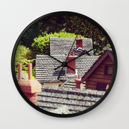 Model Rooftops Wall Clock