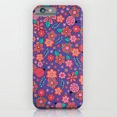 Lady Bug Flowers iPhone 6s Slim Case