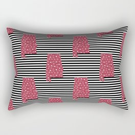 Alabama state silhouette stripes university of alabama crimson tide floral college football gifts Rectangular Pillow