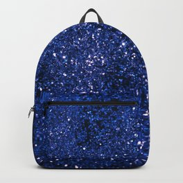 Sparkling DARK BLUE Lady Glitter #1 shiny #decor #art #society6 Backpack