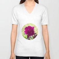 dc V-neck T-shirts featuring DC Flowers by Danielle