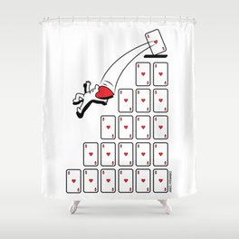 As of Hearts - 2 Shower Curtain
