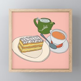 Aftenoon Cake Treat Framed Mini Art Print