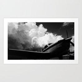 Charged skies Art Print