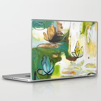 "flora bowley Laptop & iPad Skins featuring ""Rise Above"" Original Painting by Flora Bowley by Flora Bowley"