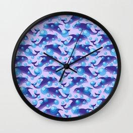 Dolphins under water #society6 #decor #buyart #artprint Wall Clock
