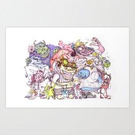 Monster Bash Series #2 Art Print