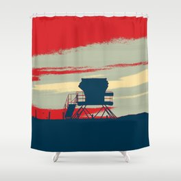 Tower Graphic Shower Curtain