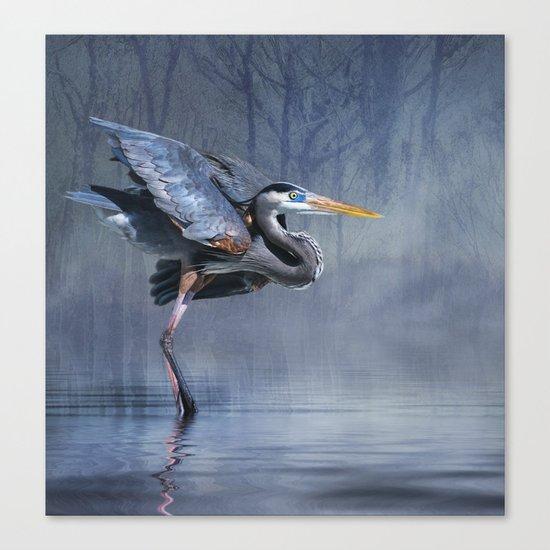 Leaving The lake Canvas Print