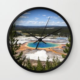 grand prismatic spring Wall Clock