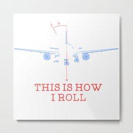 Pilot Airplane Gift Metal Print