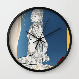 Venus in Milk Wall Clock