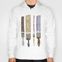 artsy Hoodies featuring color your life by Bianca Green