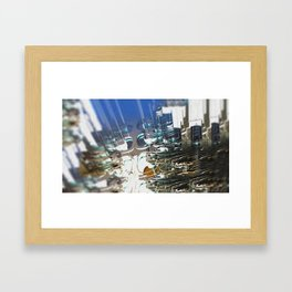 Clock Temple of technology Framed Art Print
