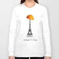 paris Long Sleeve T-shirts featuring Paris by Mehdi Elkorchi