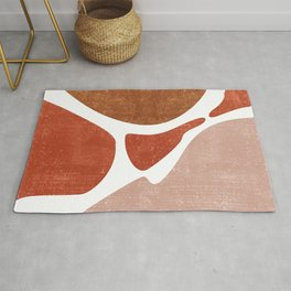 Terracotta Art Print 3 - Terracotta Abstract - Modern, Minimal, Contemporary Abstract - Brown, Beige Rug