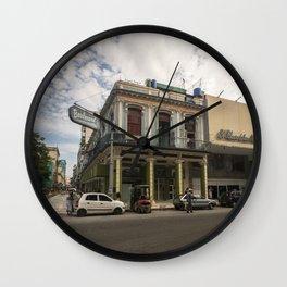 Nice lookin' street corner in La Havana, Cuba Wall Clock