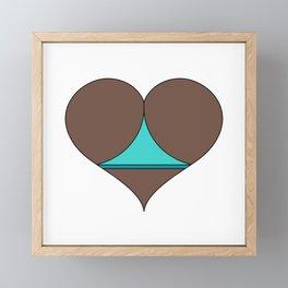 Black Butt Heart Framed Mini Art Print