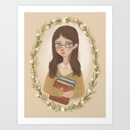 Literary Girl Art Print