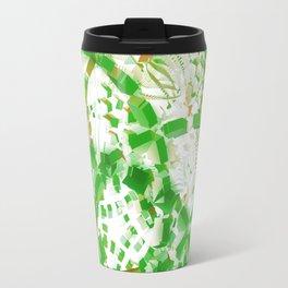 Green industrial abstract Travel Mug