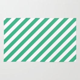 Diagonal Stripes (Mint/White) Rug