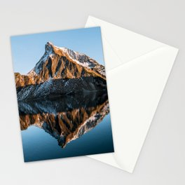 Calm Mountain Lake at Sunset - Landscape Photography Stationery Cards