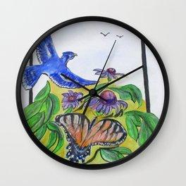 Blue Jay Fantasy Wall Clock