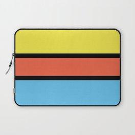 Diversions #1 in Yellow, Orange & Powder Blue Laptop Sleeve