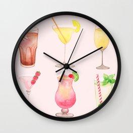 Summer Cocktails 12 Wall Clock