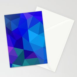 Sapphire Low Poly Stationery Cards