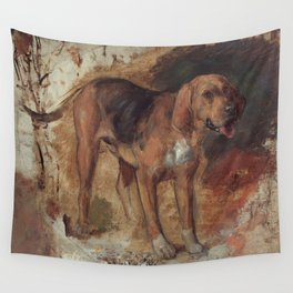 Study of a Bloodhound Wall Tapestry