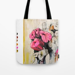 Pink wood stumps Tote Bag