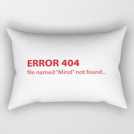 Error 404 Rectangular Pillow