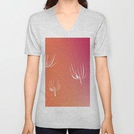 Sea weeds, exotico pink -- white Unisex V-Neck
