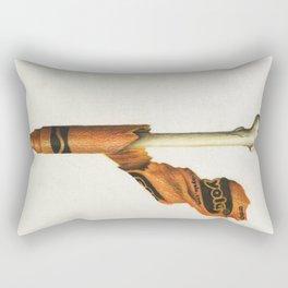 To The Core: Orange Rectangular Pillow