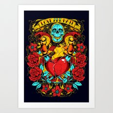 Daggers of love Art Print