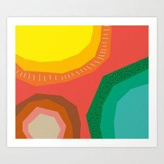 Polka Dots and Moonbeams Art Print