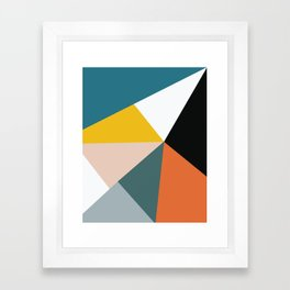 Triangles abstract colorful art Framed Art Print