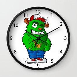 green monster Wall Clock