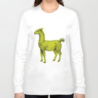 llama Long Sleeve T-shirts featuring llama by youareconstance