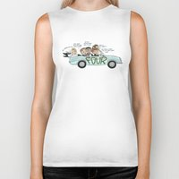 cyrilliart Biker Tanks featuring No Control by Cyrilliart