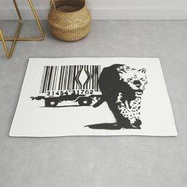 Banksy Animal Rights Artwork, Jaguar Tiger Barcode Prints, Posters, Bags, Tshirts, Men, Women, Youth Rug
