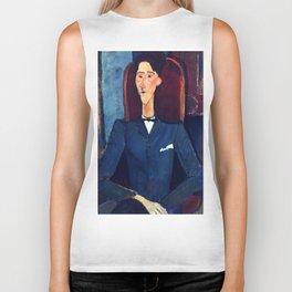 """Amedeo Modigliani """"Jean Cocteau"""" Biker Tank"""