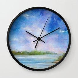 Ipswich Blue Wall Clock