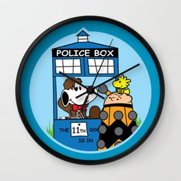 Snoopy Doctor Who Tardis Wall Clock
