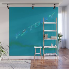 Fatboy Teal Wall Mural