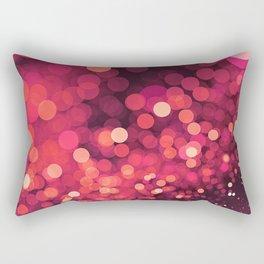 Red Glitter Wave Rectangular Pillow