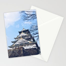 Osaka Castle Kyoto Japan Film Digital Black and White Illustration Ink Oil Abstract Concept Stationery Cards