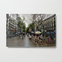 Memories of Spain 10 - Barcelona Las Ramblas Metal Print